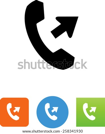 Making a phone call symbol for download. Vector icons for video, mobile apps, Web sites and print projects.  - stock vector