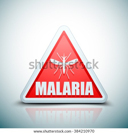 Malaria danger sign - stock vector