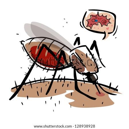 Malaria disease - stock vector