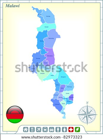 Malawi Map Stock Images RoyaltyFree Images Vectors Shutterstock - Malawi map