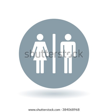Male and female icon  Gender sign  Toilet symbol  White male and female icon. Toilet Symbol Stock Images  Royalty Free Images   Vectors