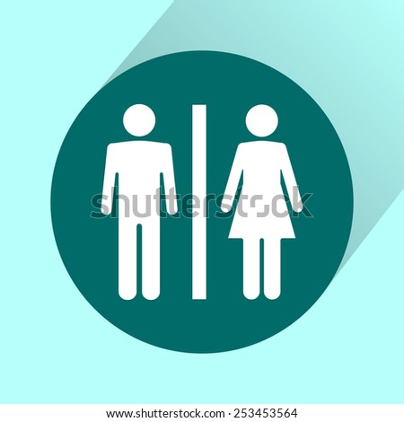 Male and Female label icon - stock vector
