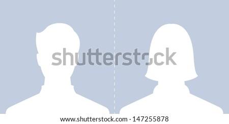 male and female profile Facebook Profile Picture Silhouette Female
