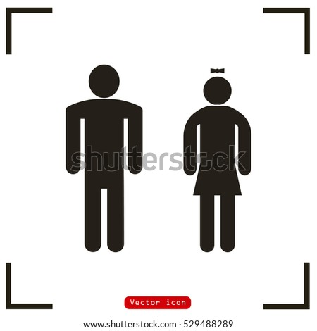 Male Female Restroom Symbol Vector Icon Stock Vector Royalty Free Impressive Male Female Bathroom Symbols