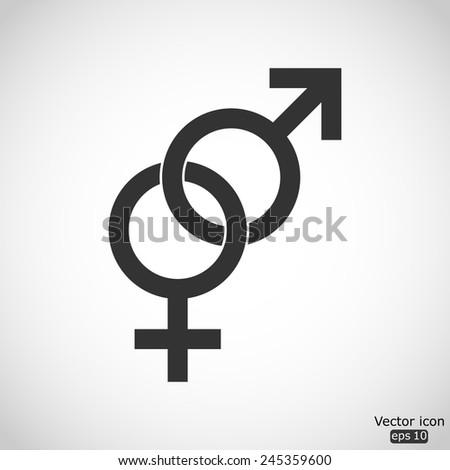 male and female sex symbol - vector icon - stock vector