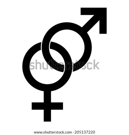 Male and female sex symbol - vector illustration - stock vector