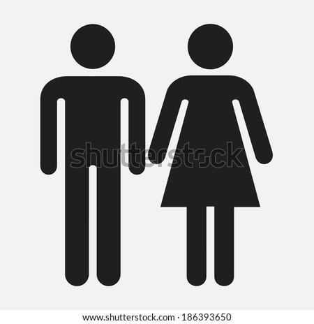 Male and female sign - stock vector