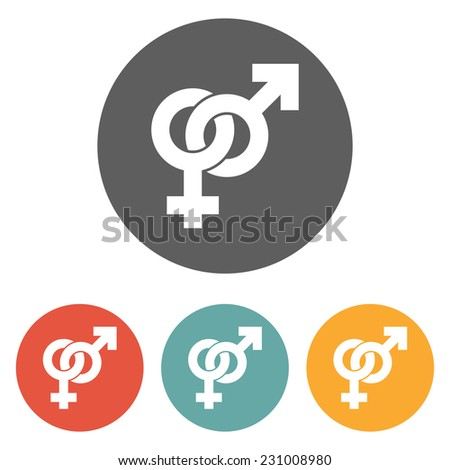 male and female sign icon - stock vector