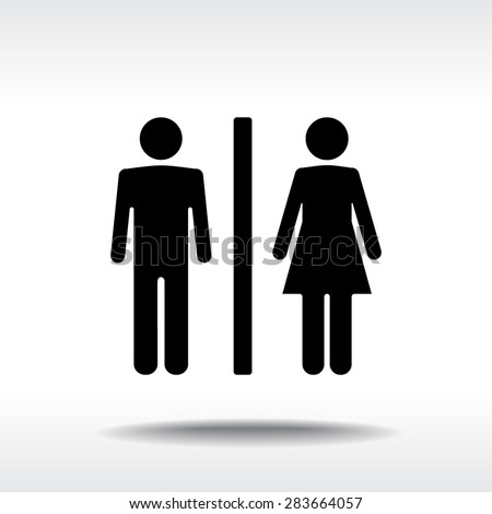 the bathroom symbol male and female sign icon vector illustration flat design style