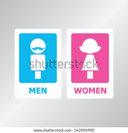 Male and female sign vector illustration - stock vector