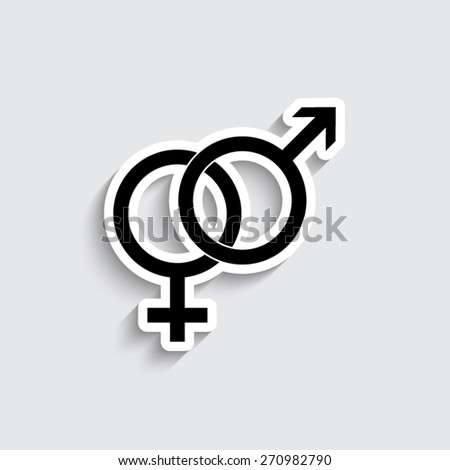 Male and female symbol - vector icon - stock vector
