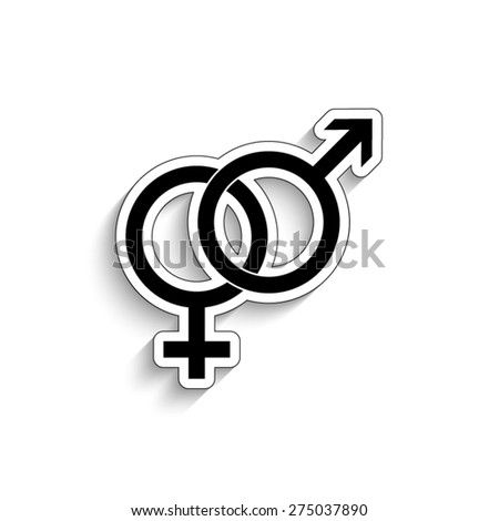 Male and female symbol - - vector icon - stock vector