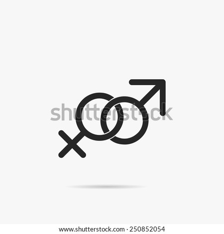 Male and female symbols. - stock vector