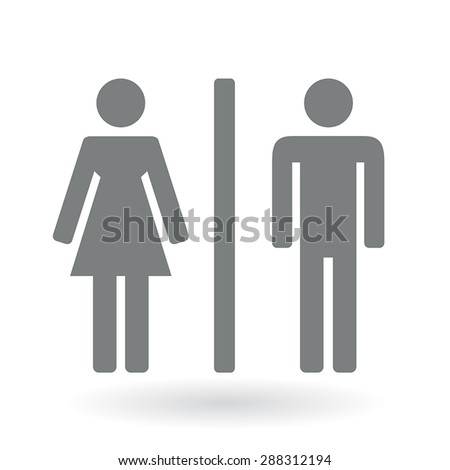 Male and Female Symbols - stock vector