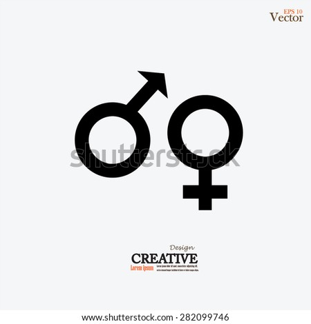 Male Female Symbols Combination Stock Vector 282099746 Shutterstock