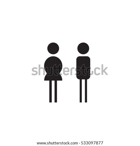 male and lady toilet symbols  Vector illustration style is flat iconic  bicolor symbols  intensive. Patient Toilet Stock Images  Royalty Free Images   Vectors