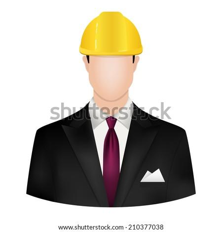male architect - stock vector