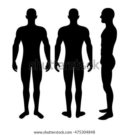 Male silhouette body