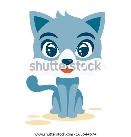Male Cat - stock vector