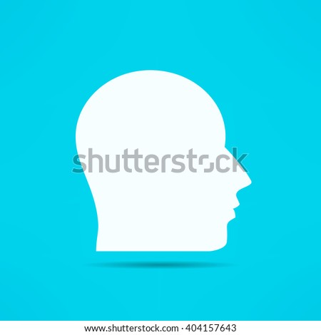 Male face profile design. Head silhouette. Human face portrait.