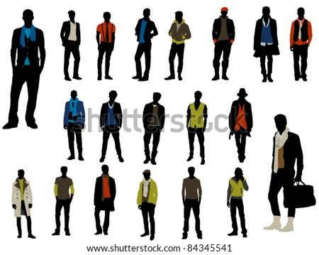 Male fashion - stock vector