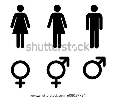 Male  female and transgender  unisex symbols  toilet sign set  vector  illustration. Man Lady Toilet Sign Male Female Stock Vector 302258540   Shutterstock