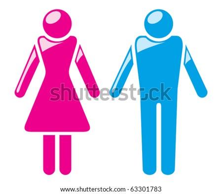 Male & Female Symbol. - stock vector