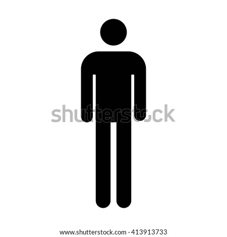 Bathroom Sign Male Vector male mens bathroom restroom sign flat stock vector 413913733