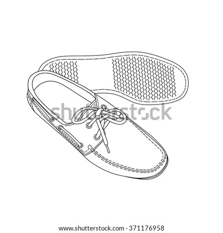 Male shoes isolated on white - stock vector