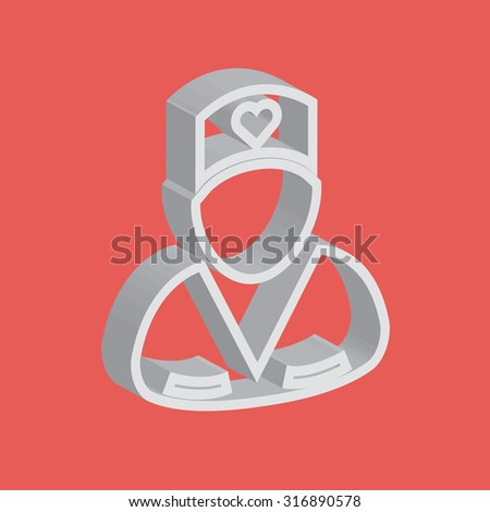 Male surgeon wearing uniform icon - stock vector
