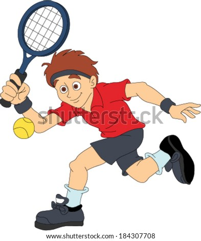 Male Tennis Player - stock vector