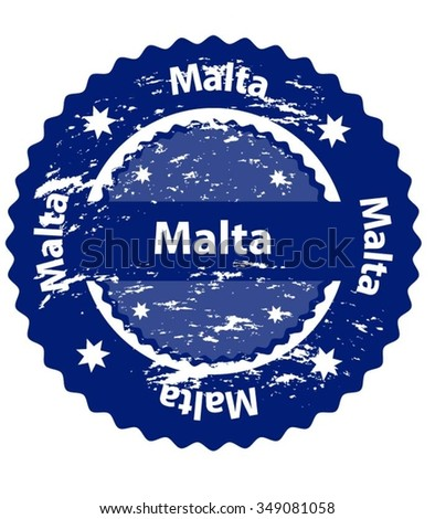 Malta Country Grunge Stamp - stock vector