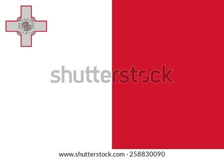 Malta flag - stock vector