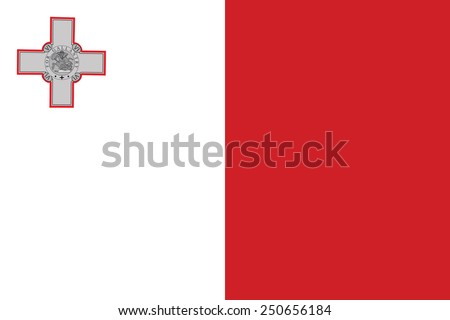Malta flag vector. original and simple Malta flag isolated vector in official colors and Proportion Correctly  - stock vector