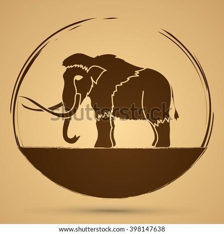 Mammoth graphic vector. - stock vector
