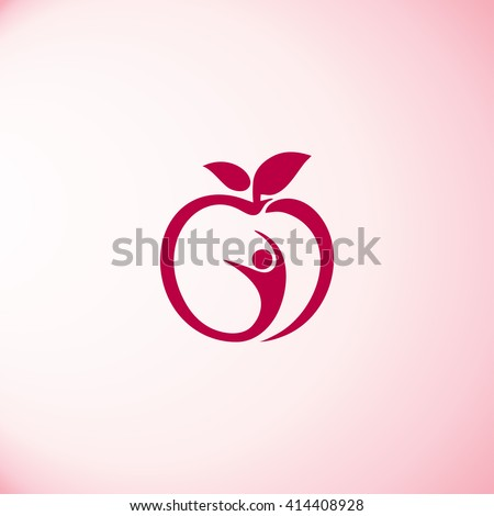 Man and apple icon vector