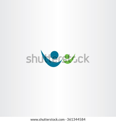 man and child people sign vector logo icon symbol