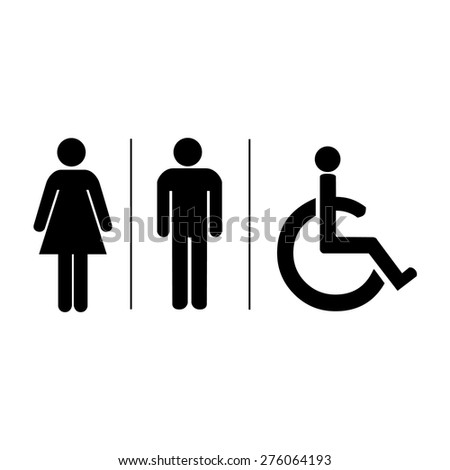 Male Female Bathroom Symbols Toilet Symbol Stock Images Royaltyfree Images & Vectors .