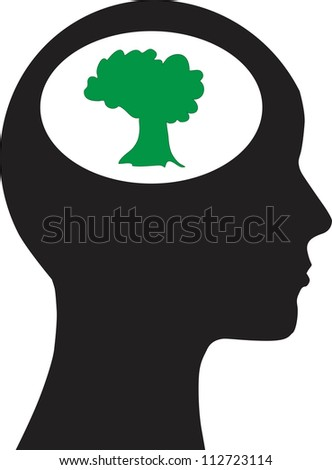 Man and tree - stock vector