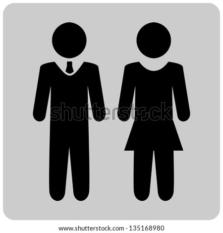 Man and woman - stock vector