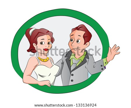 Man and Woman Couple, vector illustration - stock vector