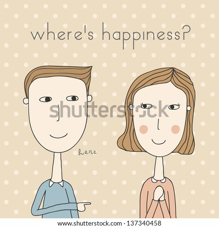man and woman couples - stock vector