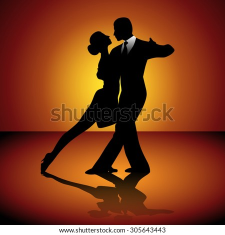 Ballroom Dancing Silhouette Stock Images, Royalty-Free ...