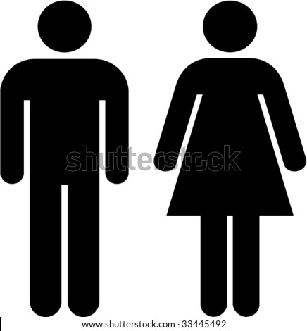 man and woman icon - stock vector