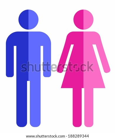 Man and woman icons - stock vector