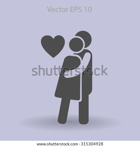Man and woman loves - stock vector