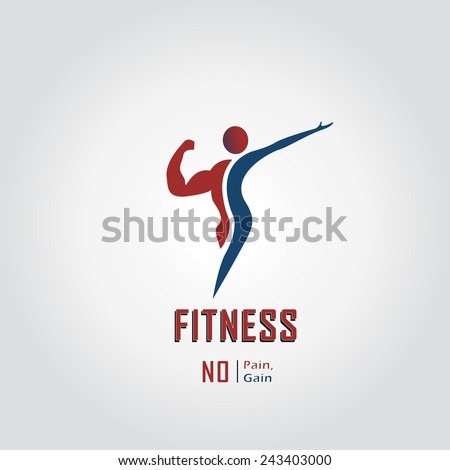Man and woman of fitness vector design icon.  - stock vector
