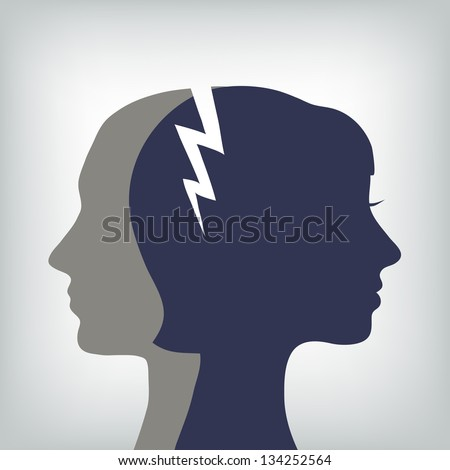 man and woman relations concept, vector - stock vector