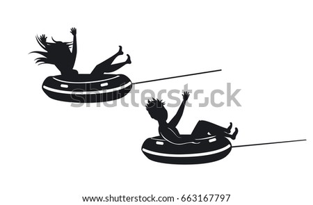 Woman Floating Inner Tube Stock Images Royalty Free