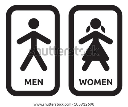 Man and women sign vector - stock vector